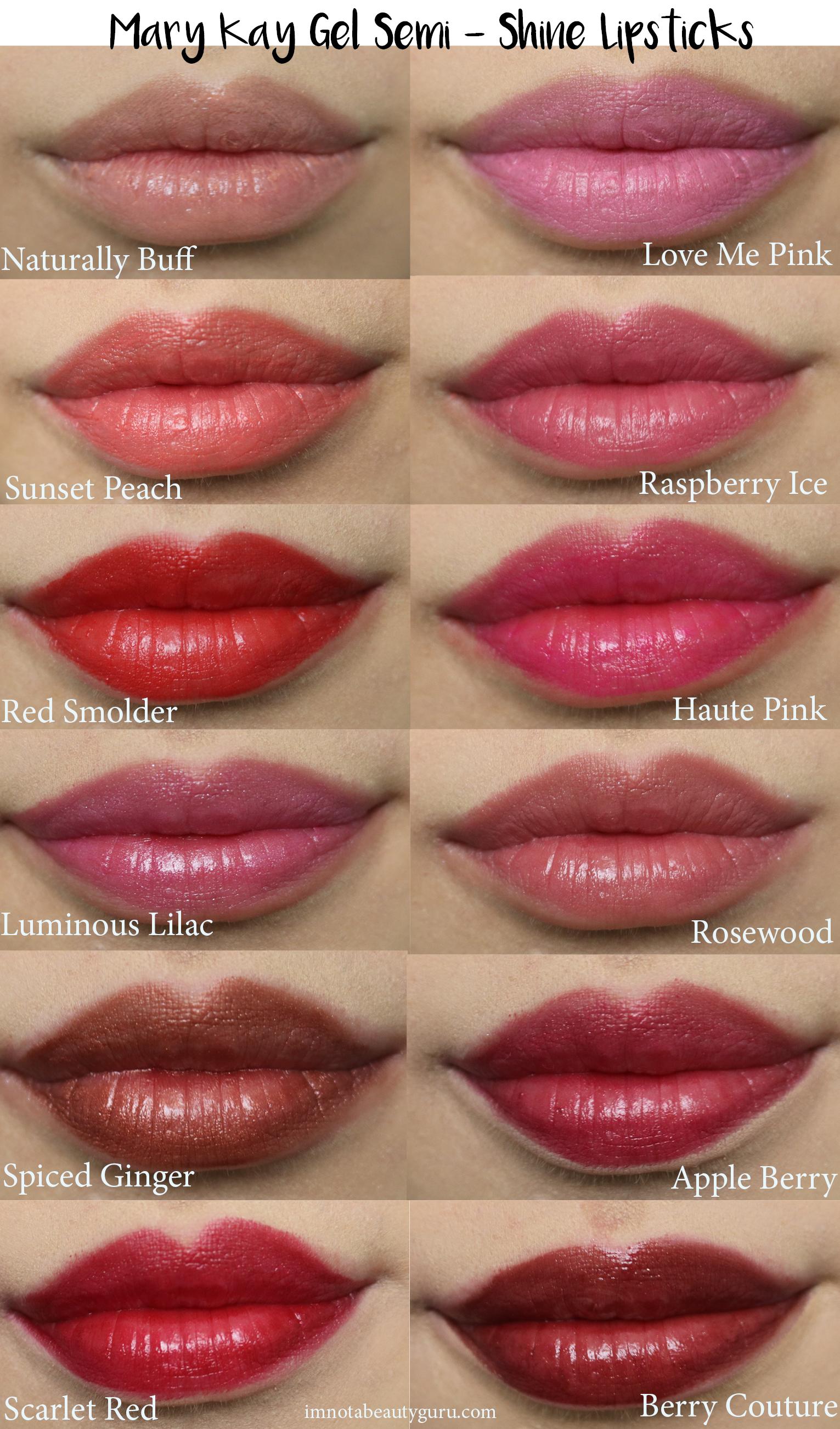 Review Mary Kay Gel SemiShine Lipsticks Mary kay