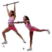total body bar workout  move 3 warrior lift hold the