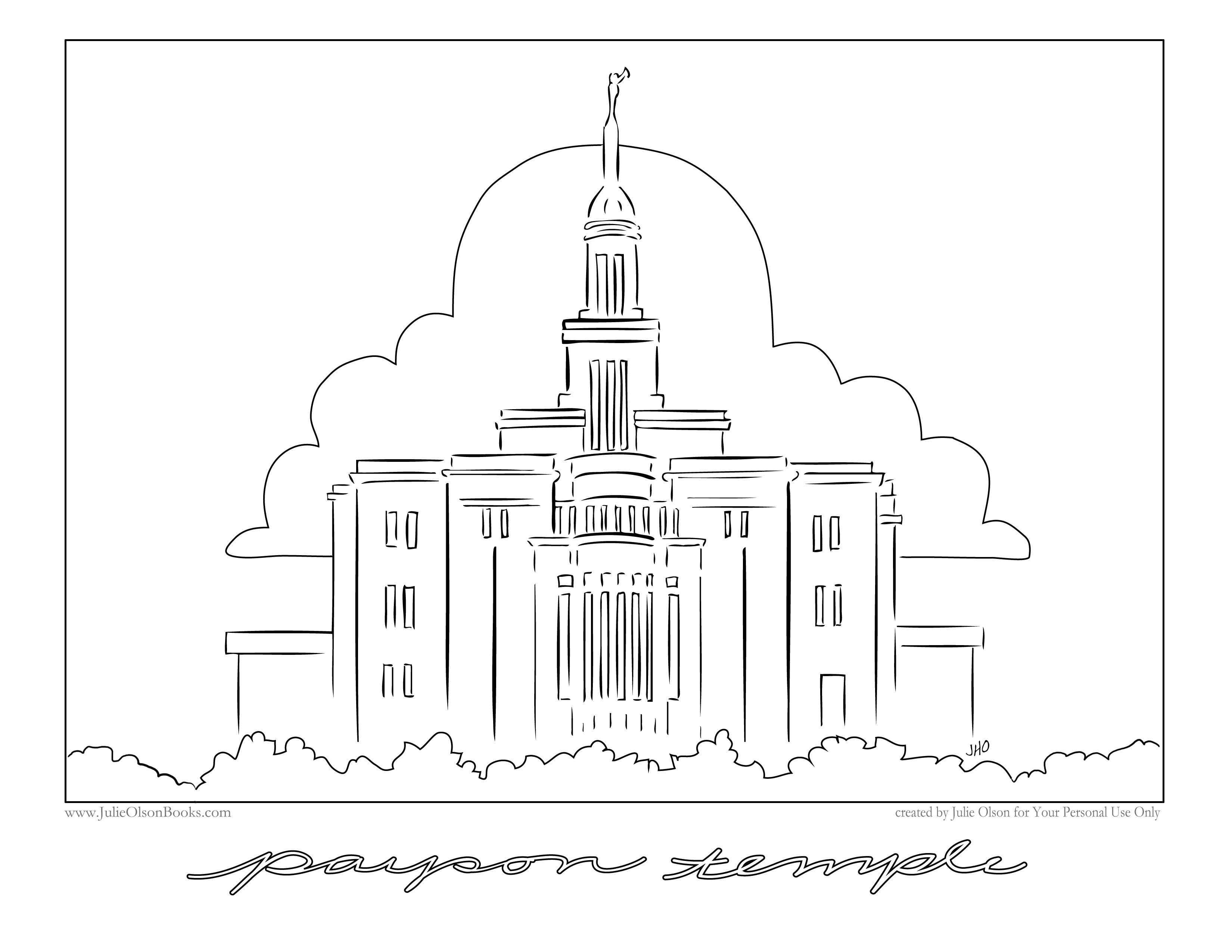 Payson Temple Downloadable Clip Art Payson Temple Temple Art