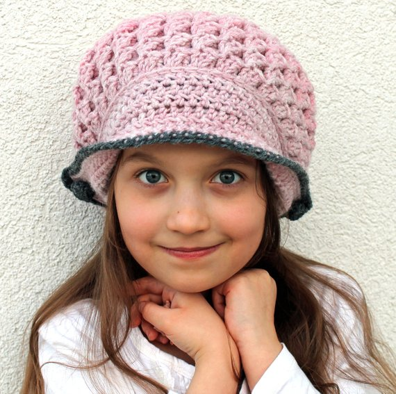 crochet newsboy hat pattern - Bonnie winter bonnet - crochet pattern - warm  winter cap 2c3f7b0a0b76