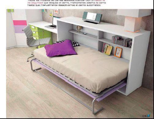 Dormitorios juveniles con camas abatibles econ micas - Fabricar cama abatible ...