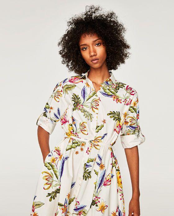 fa2896dedf8 TÚNICA ESTAMPADO FLORAL | Wardrobe | Zara dresses, Floral prints ...