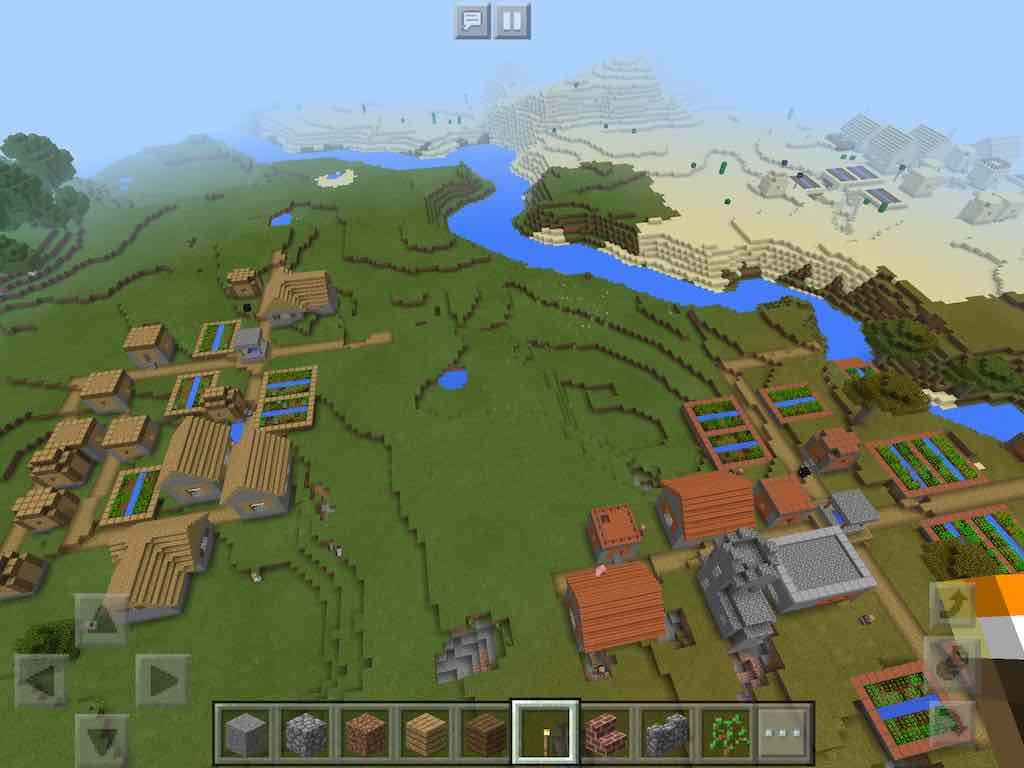 Check this Pocket Edition seed out: a triple village spawn. Not