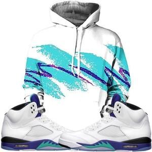 designer fashion 9d459 f0597 Born A Wild Soul Hoodie 90s Fresh Prince Hoodie - Jordan 5 White Grape
