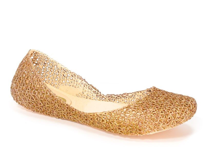 Baleriny Letnie Melissa M31512 52326 Beige Glitter Melissa Beige Shoes