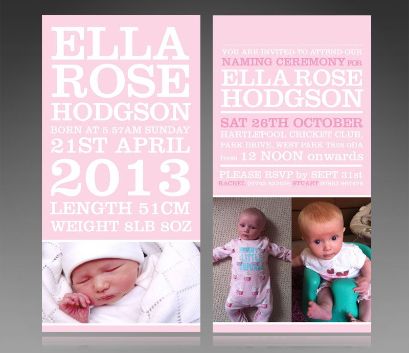 Naming Day Invite For Baby Girl Designed By HttpWwwStuart