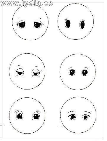 Foro de Manualidades Lydia :: Ver tema - Dibujos para pintar ojos ...