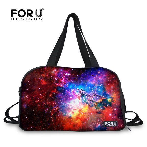 f3f5cd4696ac FORUDESIGNS Vintage Women Canvas Travel Duffle Bag Ladies Messenger  Universe Star Travel Bag Big Tote Bolsa