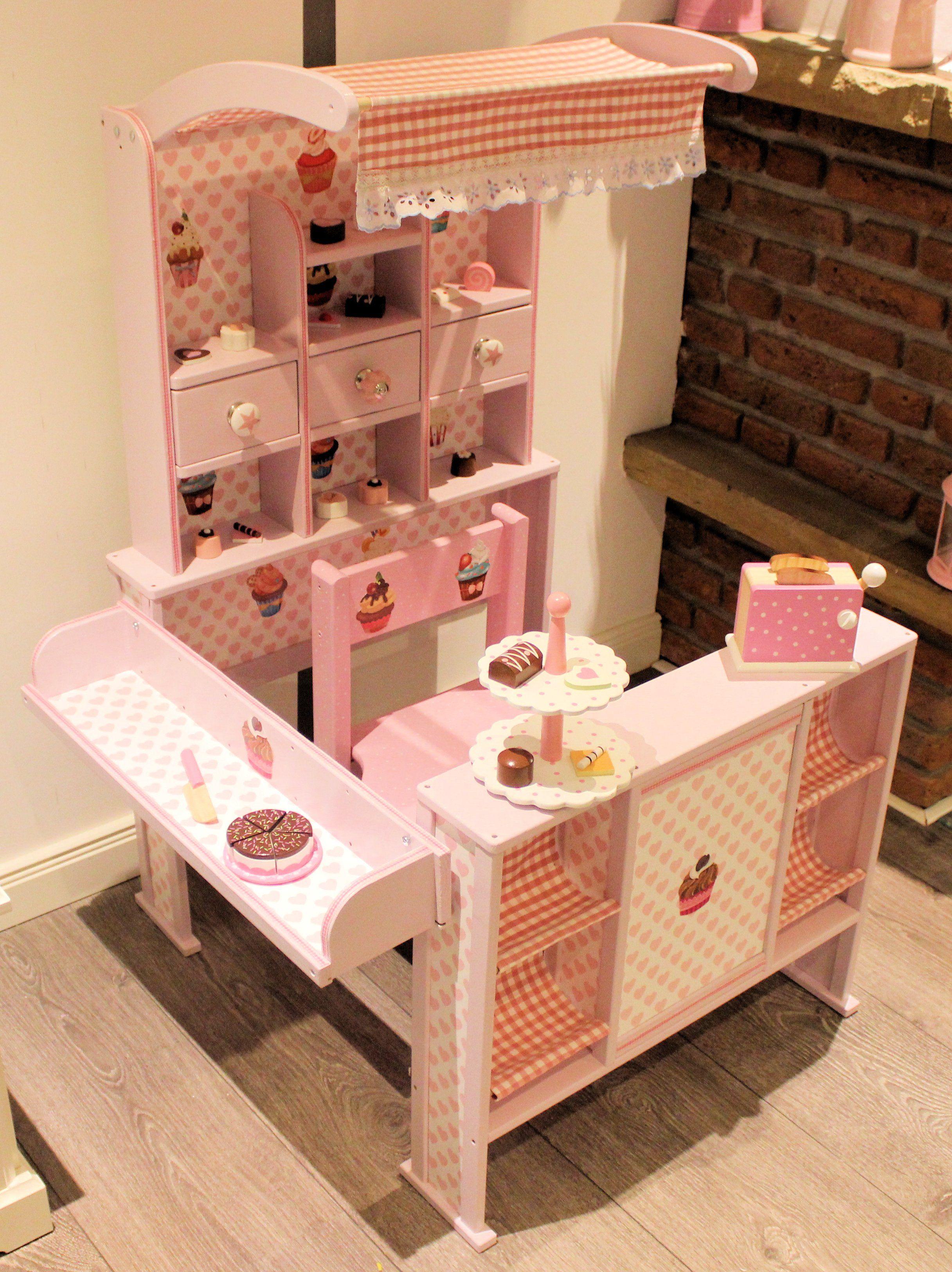 kaufladen rosa weiß shabby | kaufladen und kinderküche | pinterest