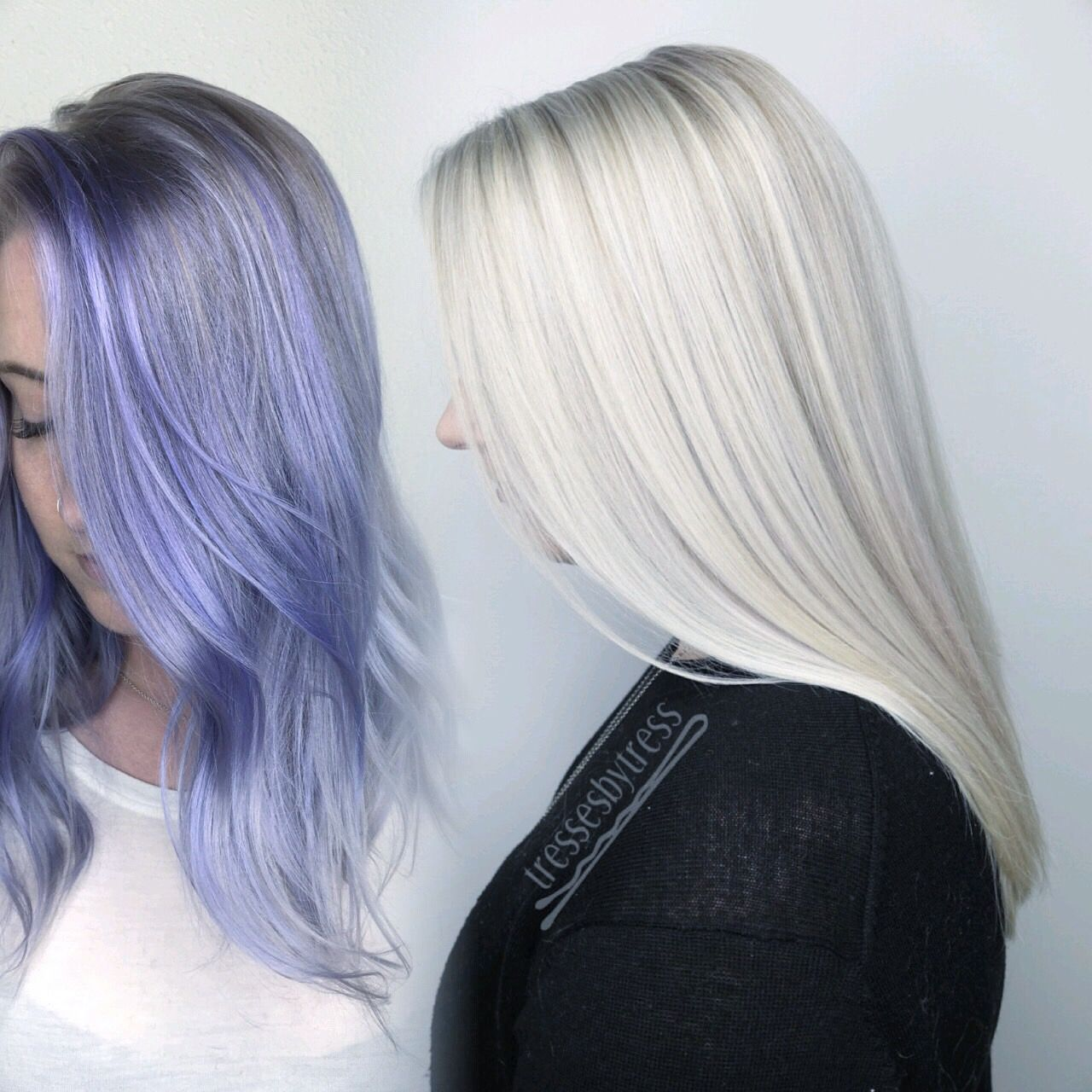 Platinum white blonde balayage from purple hair | Hair and beauty ...