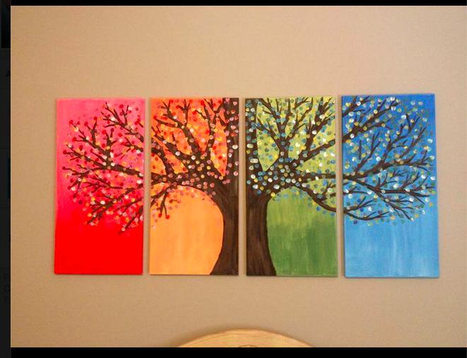 Peinture Simple à Faire Pour La Maison.
