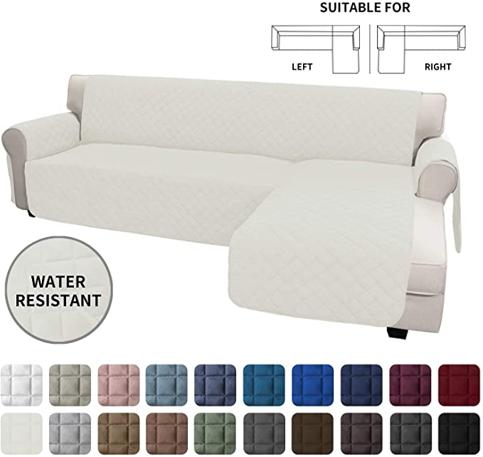 Amazon Com Easy Going Sofa Slipcover L Shape Sofa Cover Sectional Couch Cover Chaise Lounge Slip Cover Rever In 2020 Sectional Couch Cover Slipcovered Sofa Slipcovers