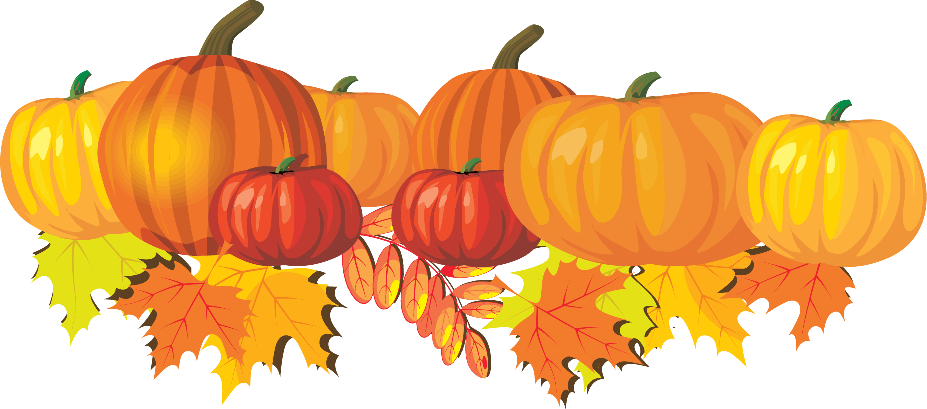 Pumpkins and Leaves Clip Art | Fall pictures with pumpkins, Fall clip art, Pumpkin