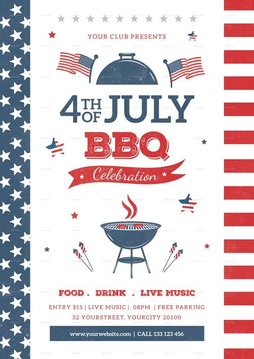 Th Of July Bbq Flyer Template  HttpsFfflyerComThOfJuly