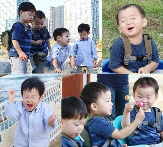 Song Il Kook\'s triplets and Lee Hwi Jae\'s twins go on an outing at ...
