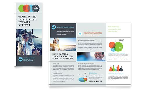 Overlapping CirclesAreas Business Analyst  Tri Fold Brochure