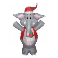 4 BZB Goods Lighted Christmas Blow Up Cute Elephant Yard Decoration