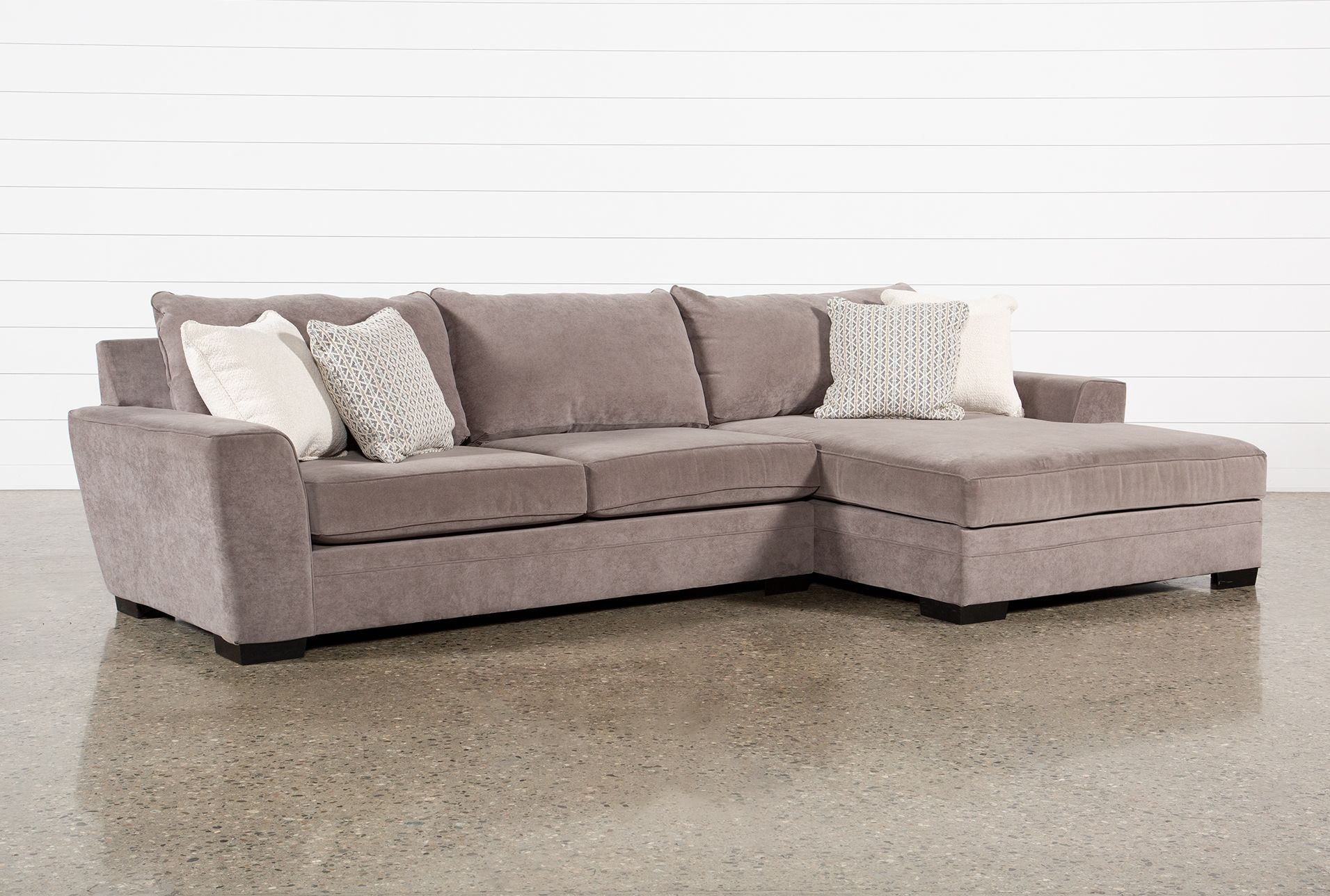 Delano Charcoal 2 Piece Sectional Sofa With Right Arm Facing