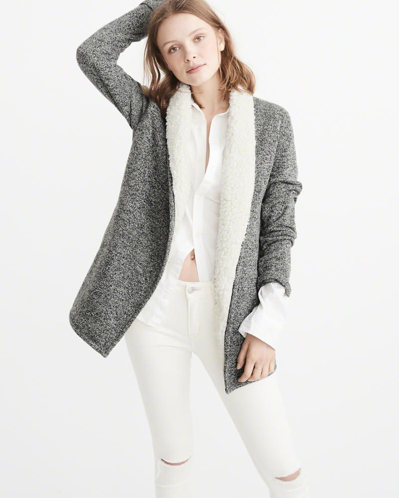 1b31a7e6d2599 A F Women s Sherpa-Lined Cardigan   Products   Clothes, Fashion, Women