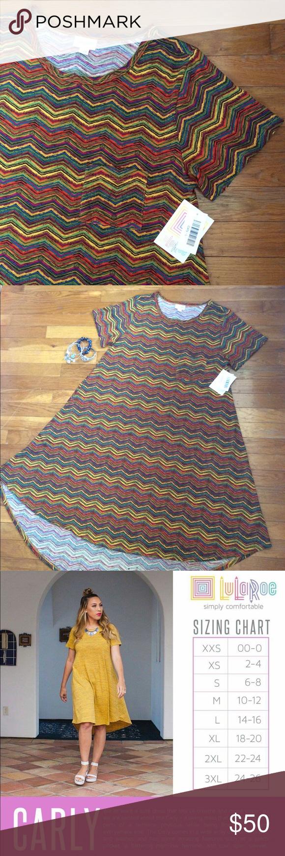 c9c7019d7058 Rainbow Striped Carly Swing Dress This LuLaRoe Carly is super fun! It has a  rainbow