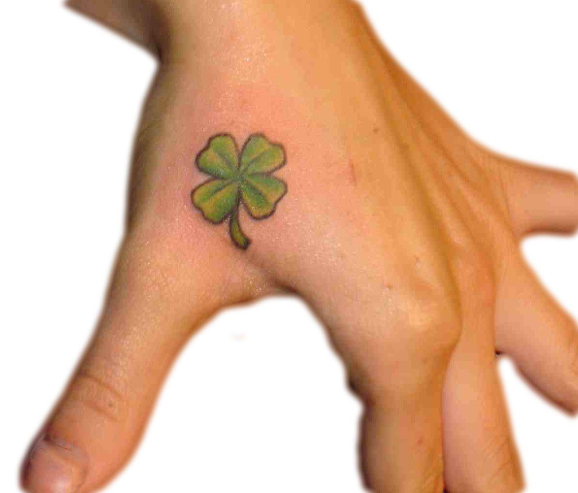 7a8c723adb8b4 Shamrock, hand tattoo on TattooChief.com | tatoos | Shamrock tattoos ...