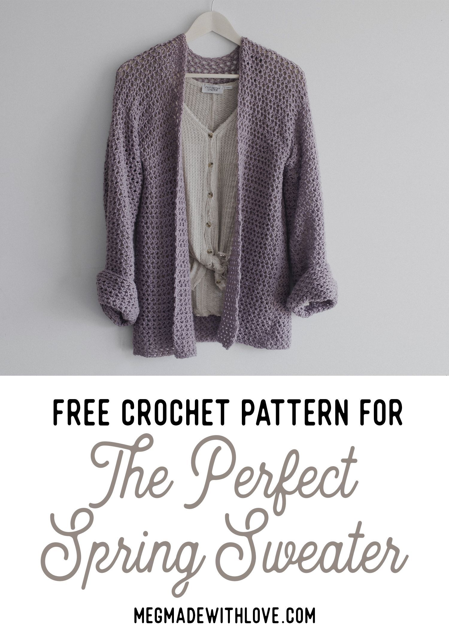 Free Crochet Pattern for the Perfect Spring Sweater - Comfy Cardigan ...