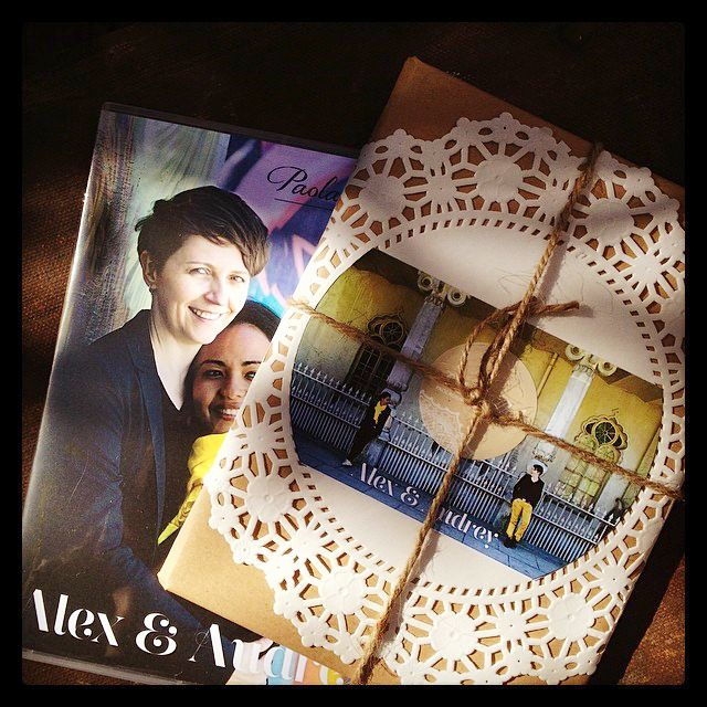 A cute little something in the post today for Audrey & Alex! ... super excited!   Engagement photo shoot  DVD