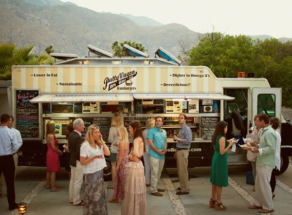 Mod palm springs wedding food truck food truck catering and food love the idea of a cool stand for food would have to find a way to make it quick and efficient maybe just for snacks after dinner junglespirit Gallery