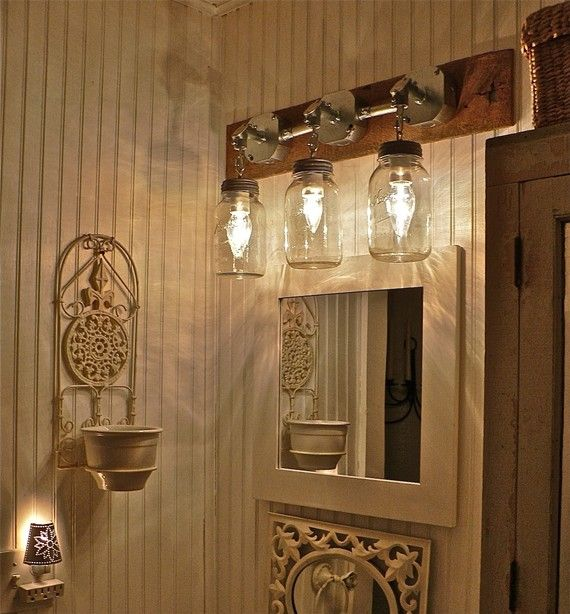 Diy Mason Jar Bathroom Lights