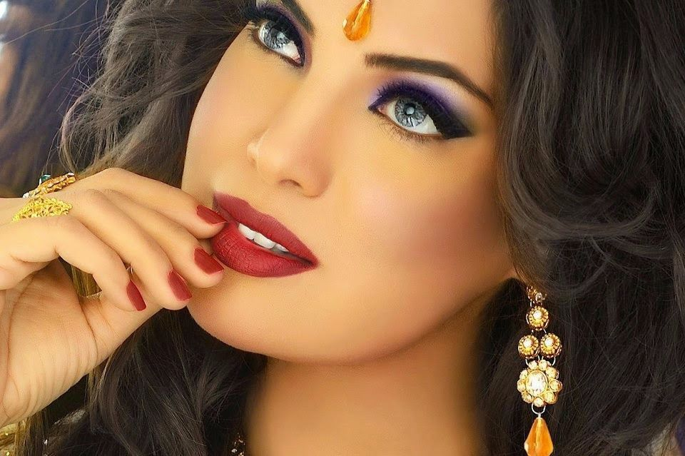 Makeup with Arab hands: Photo instruction