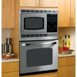 Ge 30 In Electric Wall Oven With Built In Microwave In Stainless Steel Jtp90spss Electric Wall Oven Built In Microwave Built In Microwave Oven