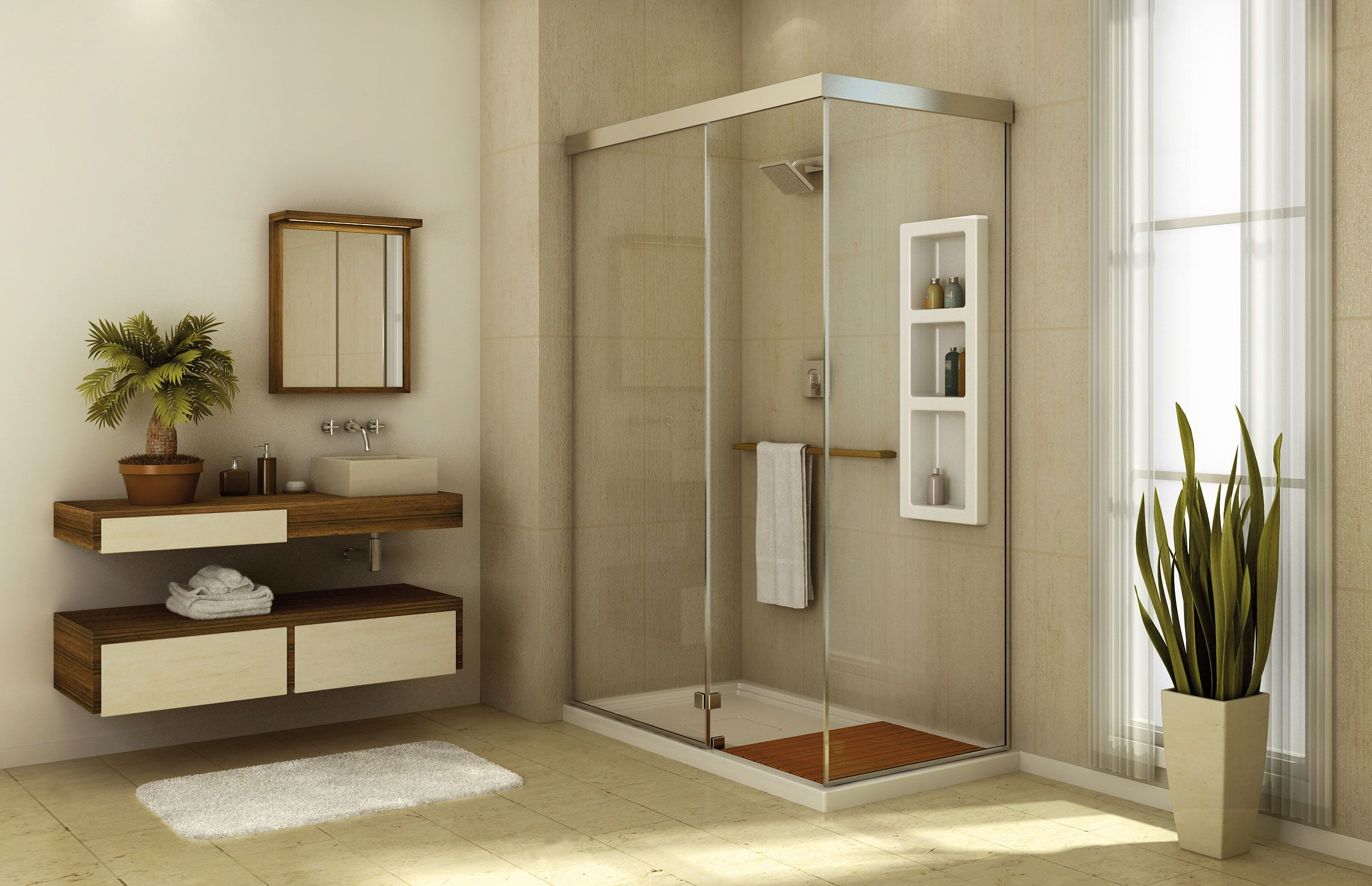 Influence 6034 C Corner or Glass enclosures shower - MAAX | mikes ...