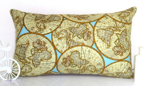 Map pillow! We're planning to do the room in a travel theme.