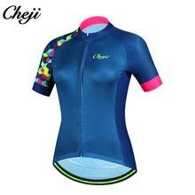 2018 CHEJI Breathable QuickDry mtb road Bike Bicycle Jersey Ykk zipper  Women Short Sleeve Cycling Clothing Ropa De Ciclismo 4e2e3dbef