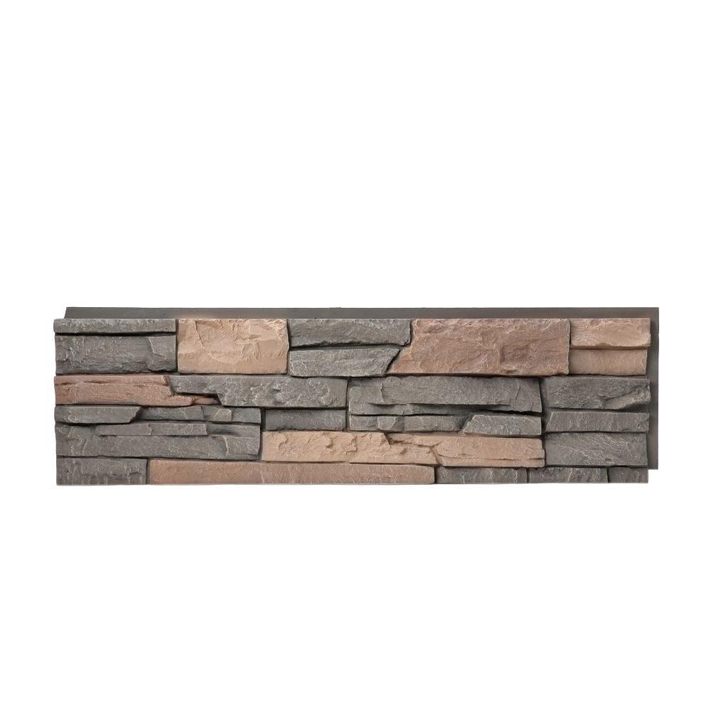 GenStone Stacked Stone Stratford 12 in. x 42 in. Faux Stone Siding ...