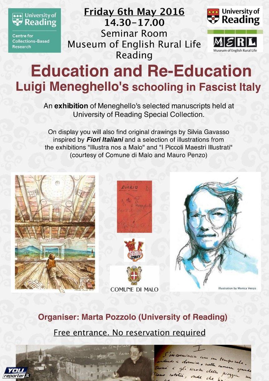 Luigi Meneghello un simposio e una mostra a Reading (U.K