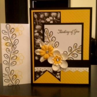 Thinking of You card :) Dafodil Delight and Basic Black....
