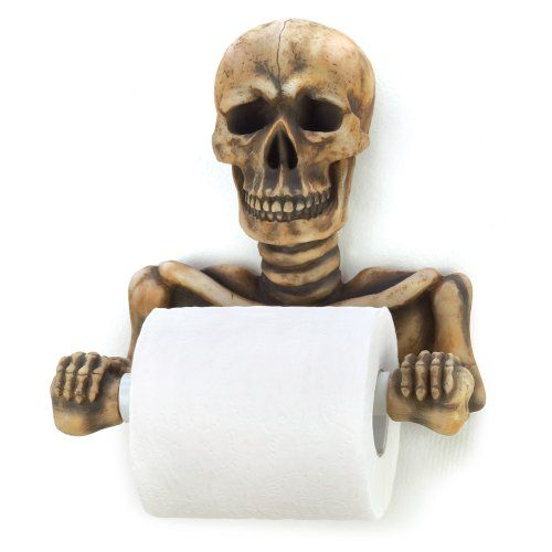 Gifts  Decor Halloween Toilet Paper Holder Skull Themed Products - halloween bathroom sets
