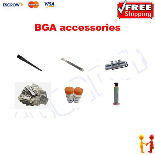 (Buy here: http://appdeal.ru/359p ) Freeshipping, BGA accessories. solder balls 0.5 & 0.6mm, solder flux 10g, directly heating reballing station for just US $40.50