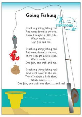 My shiny fishing rod fishing poem fishing quote for The fish poem