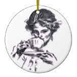 Portrait Ceramic Ornament  Portrait Ceramic Ornament  $17.60  by Cloudysky  . More Designs http://bit.ly/2fwNuVk #zazzle