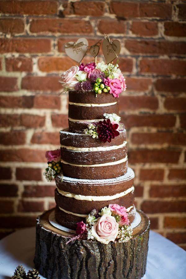 18 Scrumptious Chocolate Wedding Cakes | Wedding cake rustic ...