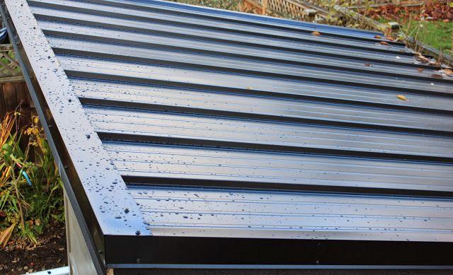 Diy Modern Shed  Standing Seam Metal Roof