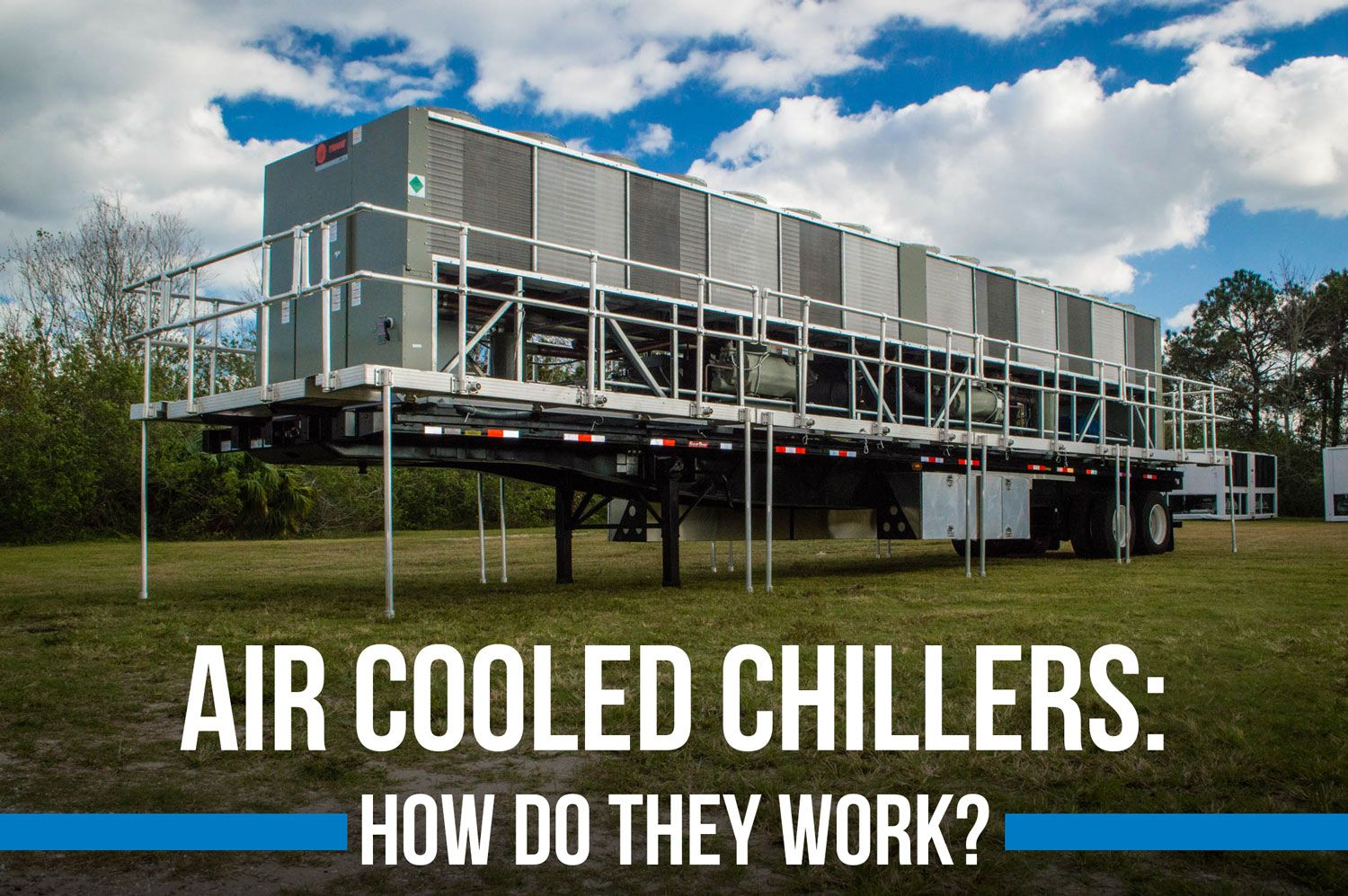 An industrial aircooled chiller is a refrigeration system