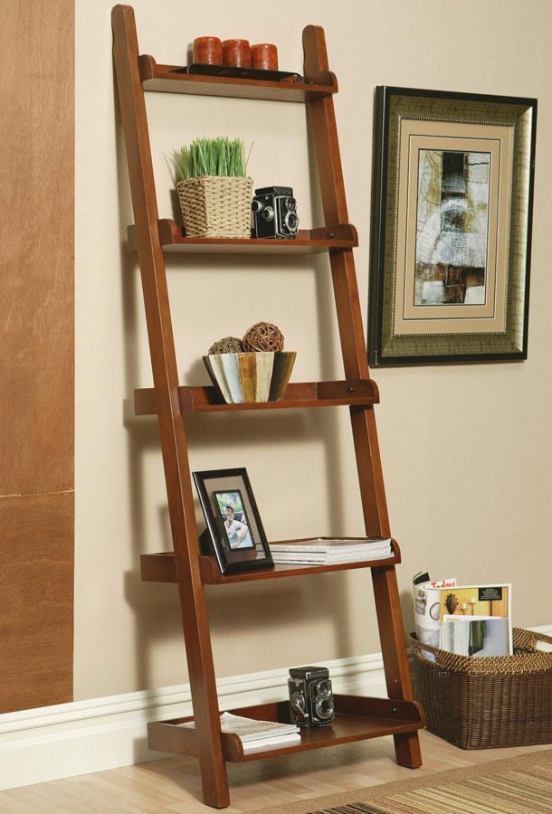 Kitchen Cabinet Discount Warehouse Coaster 800253 Book Shelf | Home Sweet Home | Ladder