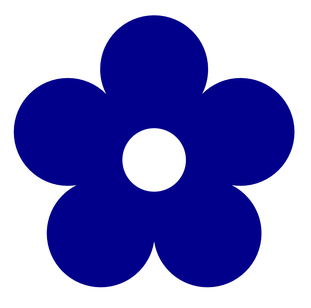 retro flower 1 color colour dark blue peace xochi info rh pinterest com au blue flower clip art free blue flower clip art free