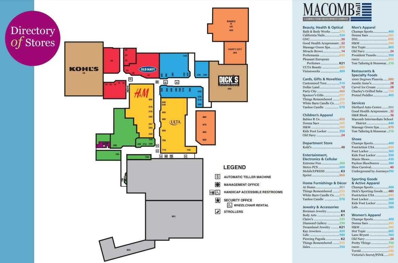 Macomb Mall Shopping Plan Mall Macomb Mall Stores