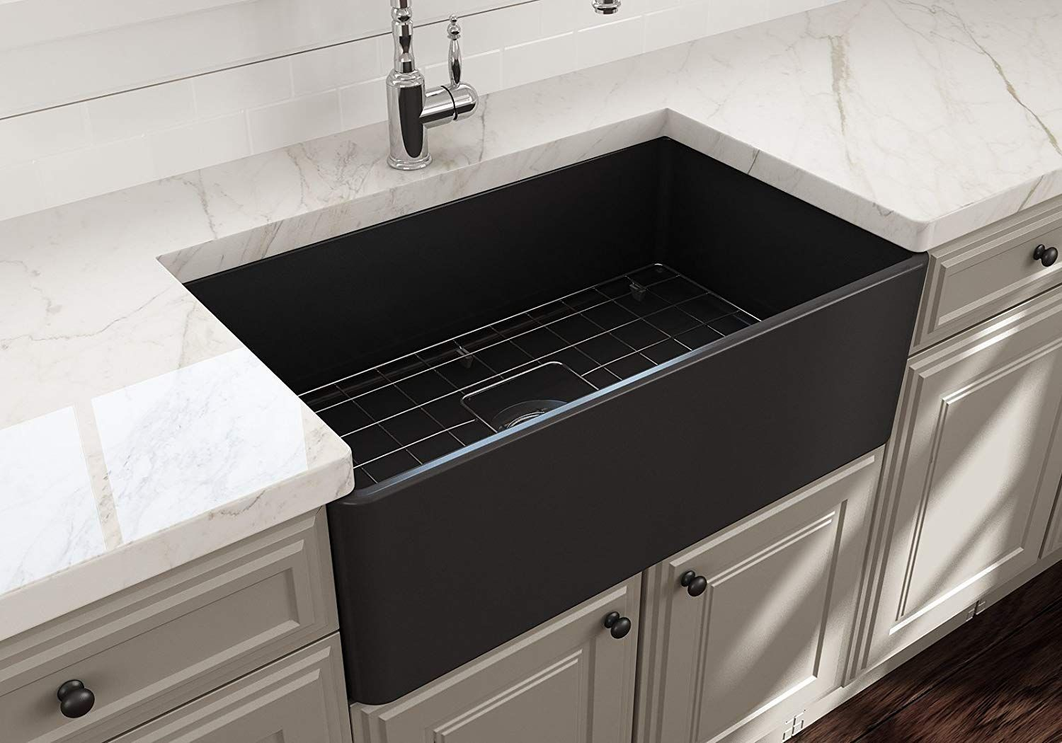 Best Black Farmhouse Sinks We Love Black Apron Front Sinks And All Sorts Of Farmhouse S In 2020 Single Bowl Kitchen Sink Black Farmhouse Sink Double Bowl Kitchen Sink