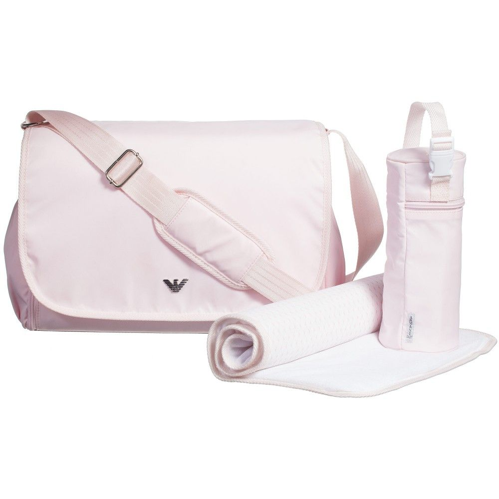 cost charm cheap sale cheapest Armani Pink Baby Changing Bag (38cm) at Childrensalon.com ...