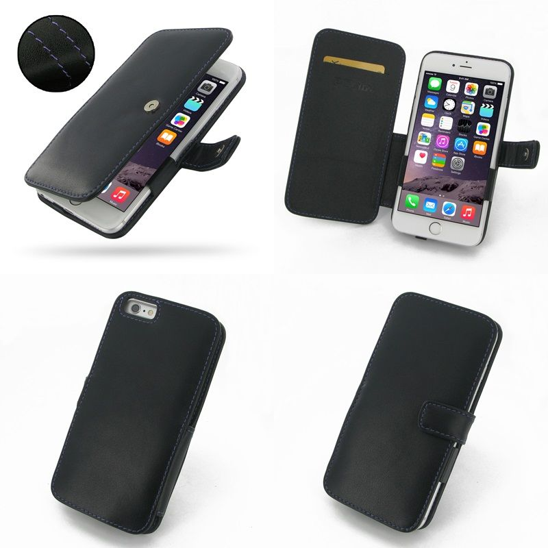 Pdair Leather Case For Apple Iphone 6 Plus 5 5 Book Type